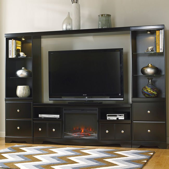 shay large entertainment wall w fireplace by signature design by ashley furniturepick. Black Bedroom Furniture Sets. Home Design Ideas