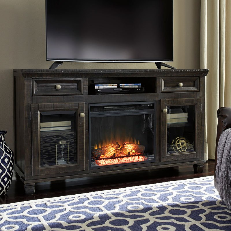 Townser Large Tv Stand W Fireplace And Audio Option By