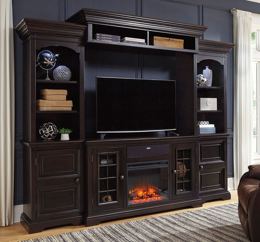 Willenburg Entertainment Wall w Fireplace and Audio