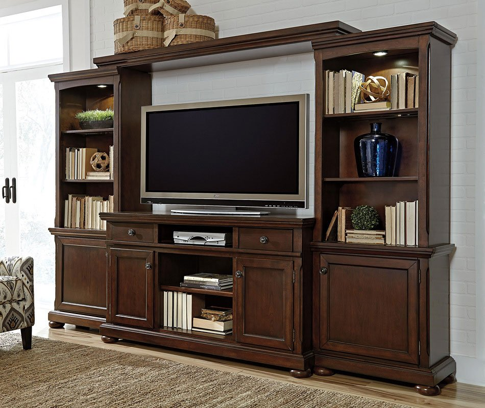 Porter extra large entertainment wall entertainment Entertainment living room furniture