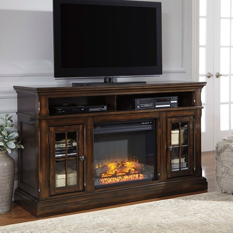 Roddinton Large Tv Stand W Fireplace By Signature Design