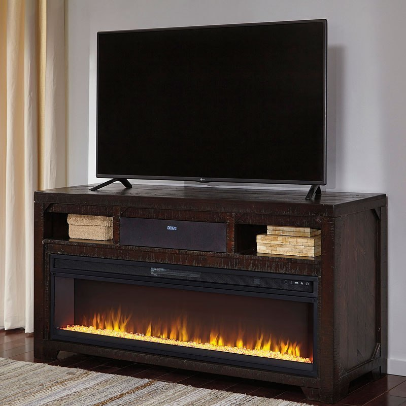 Rogness Tv Stand W Fireplace And Audio By Signature