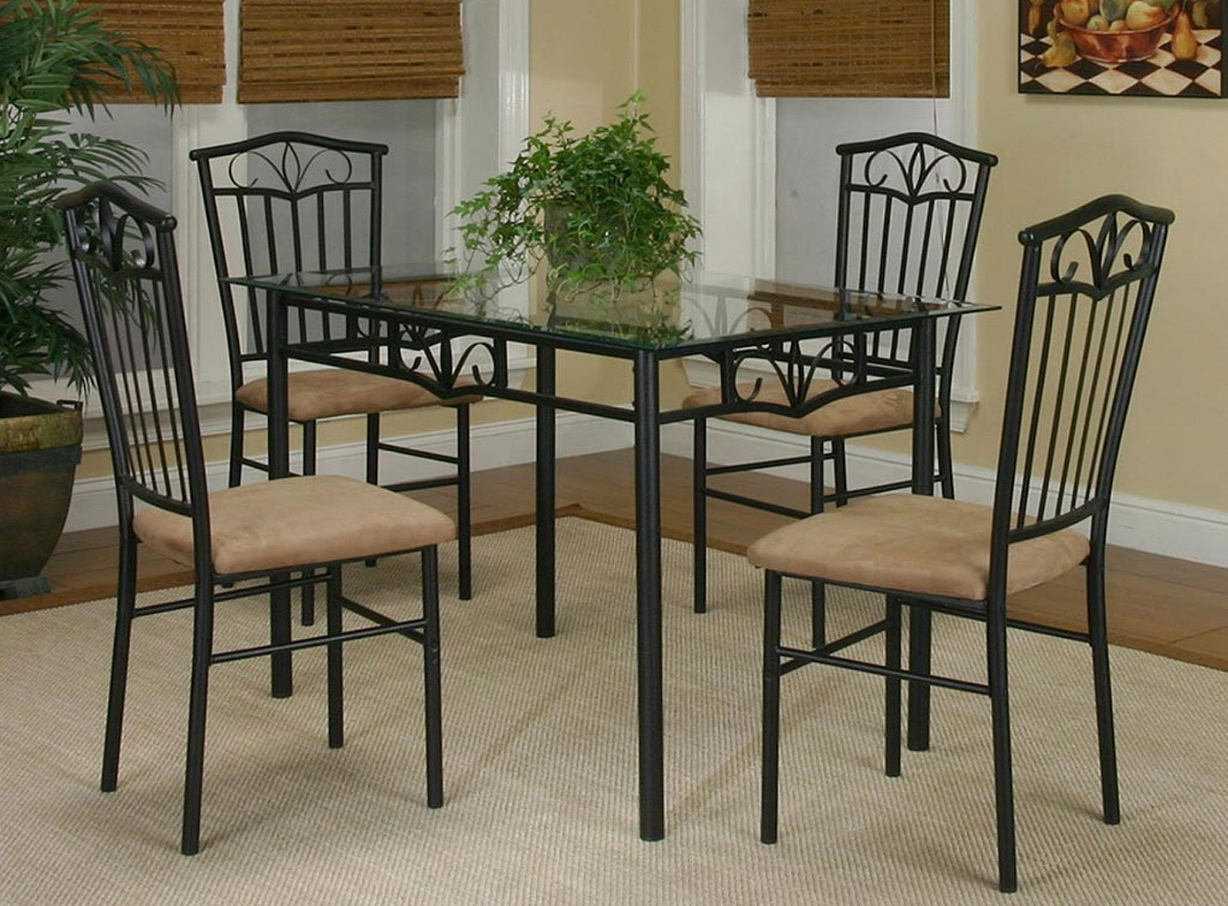 Laurel 5 piece dining room set casual dining sets for Naaptol kitchen set 70 pieces