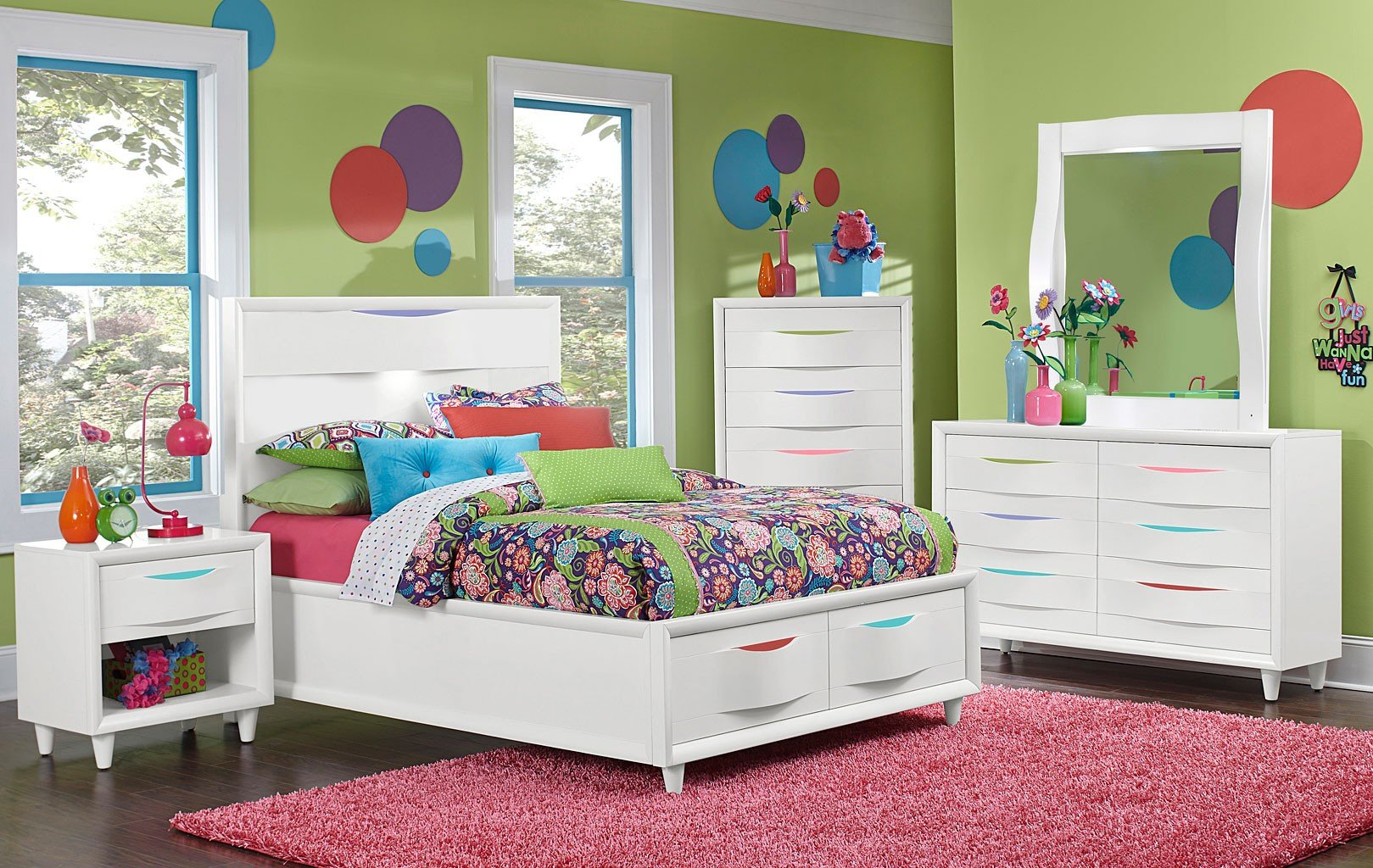 Crayola Colors Island Straight Panel Bedroom Set By Magnussen