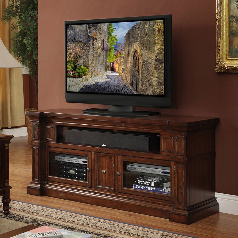 Craftsman Home 62 Media Console: Berkshire 62 Inch Media Console By Legends Furniture