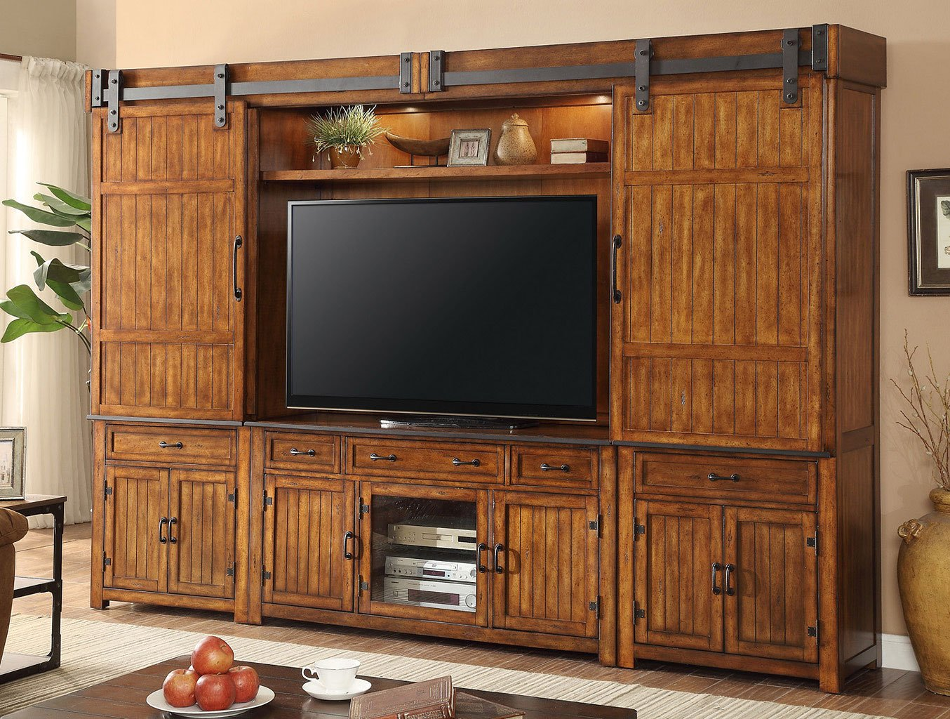 Industrial Large Entertainment Wall Entertainment Centers And Walls Tv Stands And