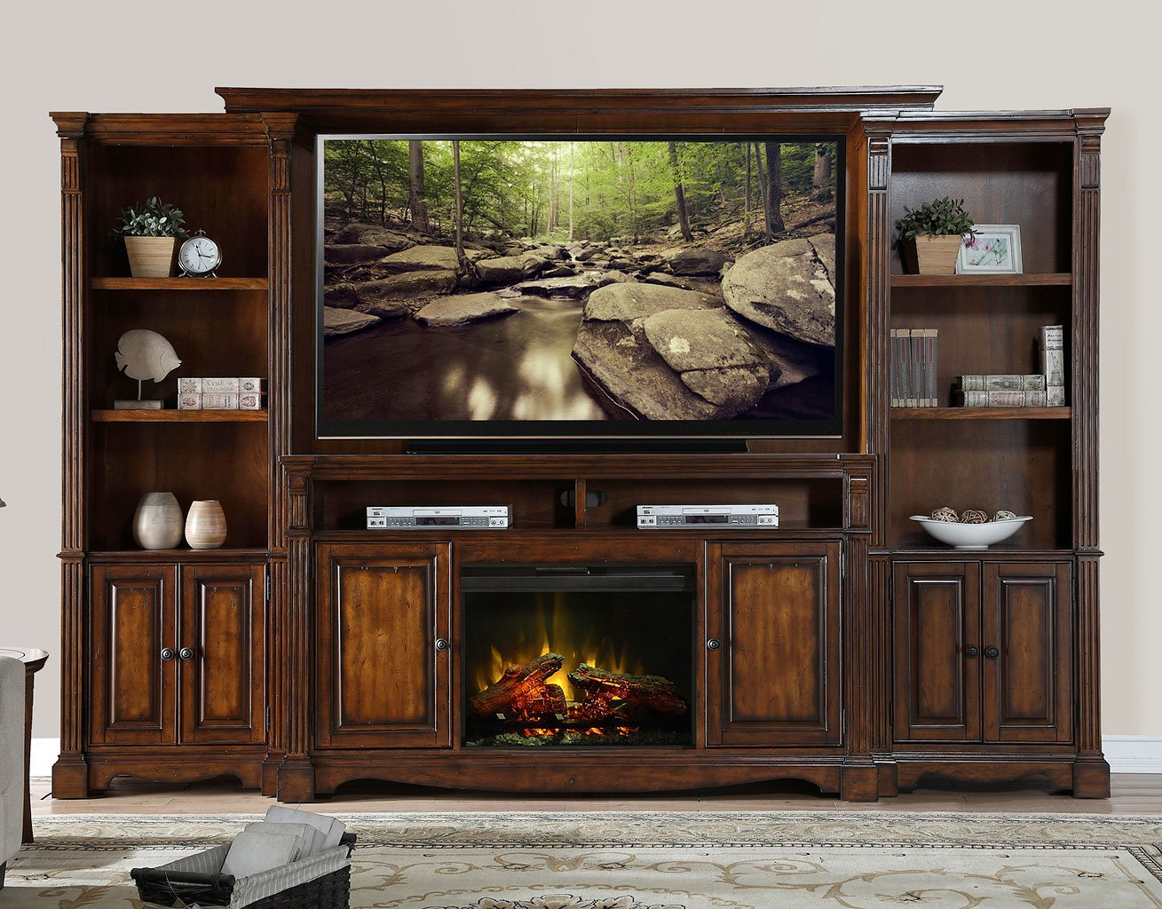Parliament Fireplace Entertainment Wall Entertainment