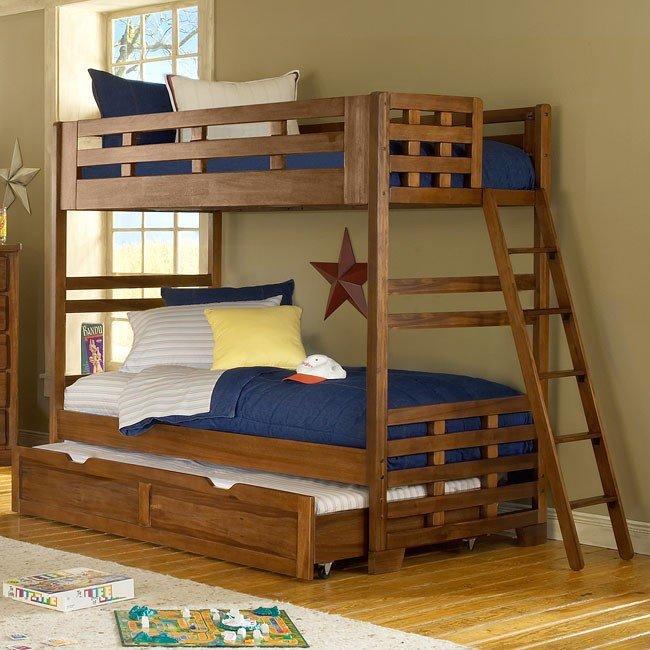 Heartland Bunk Bed Bedroom Set American Woodcrafters | FurniturePick