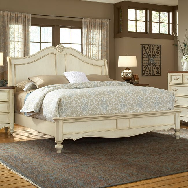 Chateau Sleigh Bed By American Woodcrafters Furniturepick