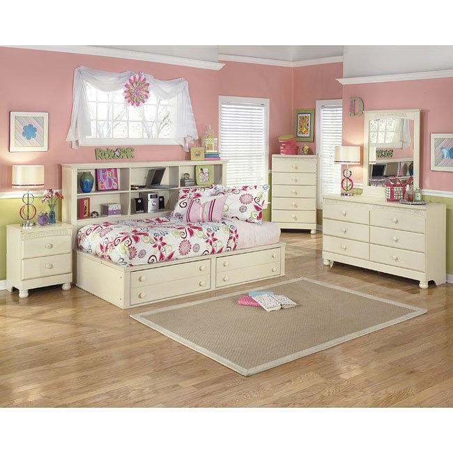 Cottage retreat bookcase bedroom set by signature design by ashley 1 reviews furniturepick Cottage retreat collection bedroom furniture