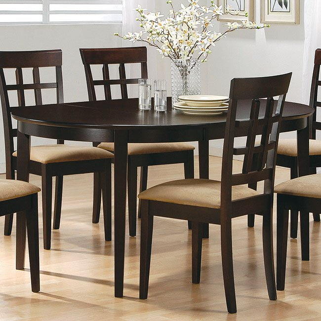 Mix Match Kitchen Chairs: Mix And Match Oval Dining Table (Cappuccino) By Coaster