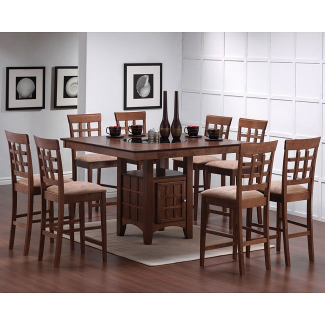 Mix And Match Counter Height Dinette With Wheat Back