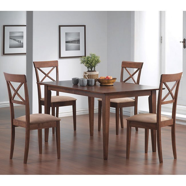 Mix And Match Dining Room Set With Cross Back Chairs