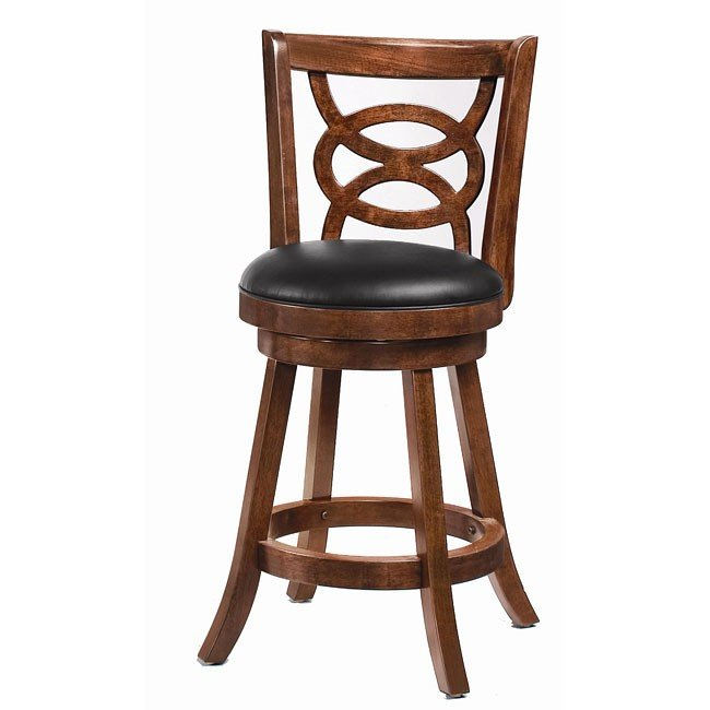 Cappuccino Swivel 24 Inch Barstool Set Of 2 By Coaster Furniture