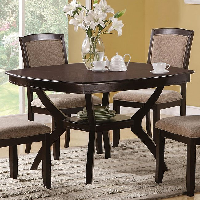 Memphis Furniture Company: Memphis Rounded Square Dining Table By Coaster Furniture
