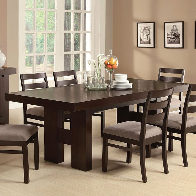 Dabny Cappuccino Dining Room Set By Coaster Furniture, 2