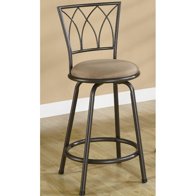 Black Arches 24 Inch Barstool Set Of 2 Coaster Furniture