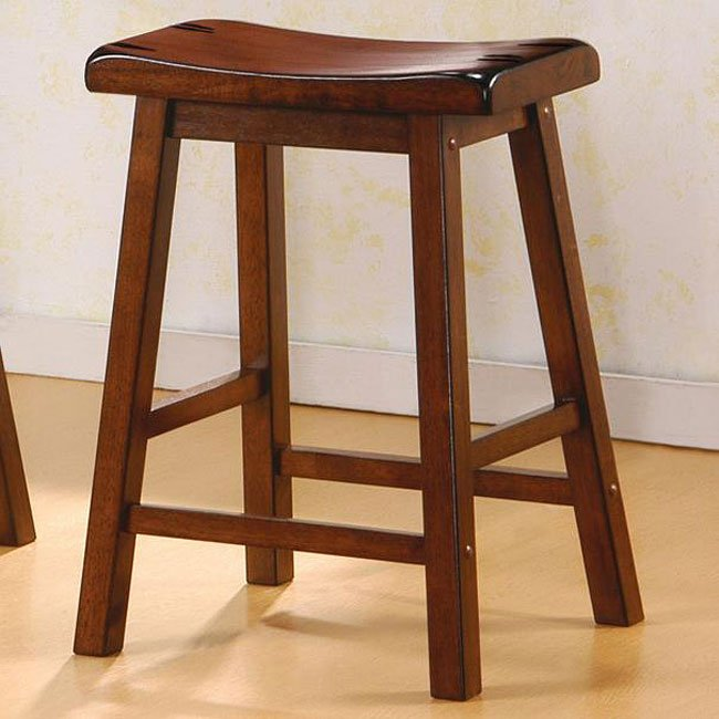 Geneva 24 Inch Barstool Set Of 2 Walnut Coaster Furniture