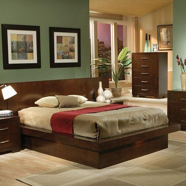 Jessica Platform Bedroom Set By Coaster Furniture