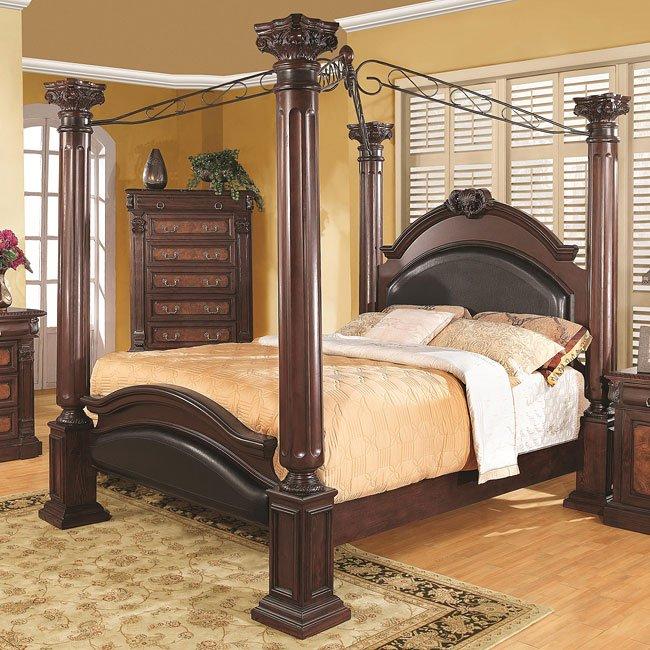 Grand Prado Canopy Bed By Coaster Furniture Furniturepick