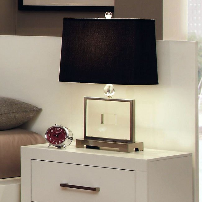 Jessica White Nightstand Panel (Set Of 2) By Coaster Furniture