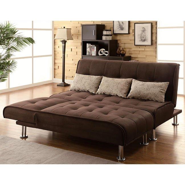 Brown Microfiber Sofa Bed Set By Coaster Furniture 1