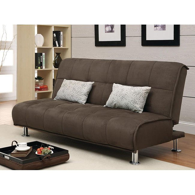 Microfiber Sofa Beds: Brown Microfiber Sofa Bed By Coaster Furniture, 1 Review(s