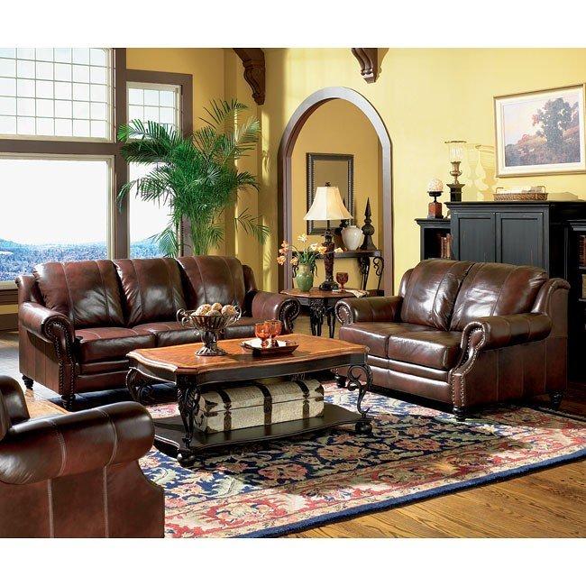 Princeton Leather Living Room Set By Coaster Furniture Furniturepick