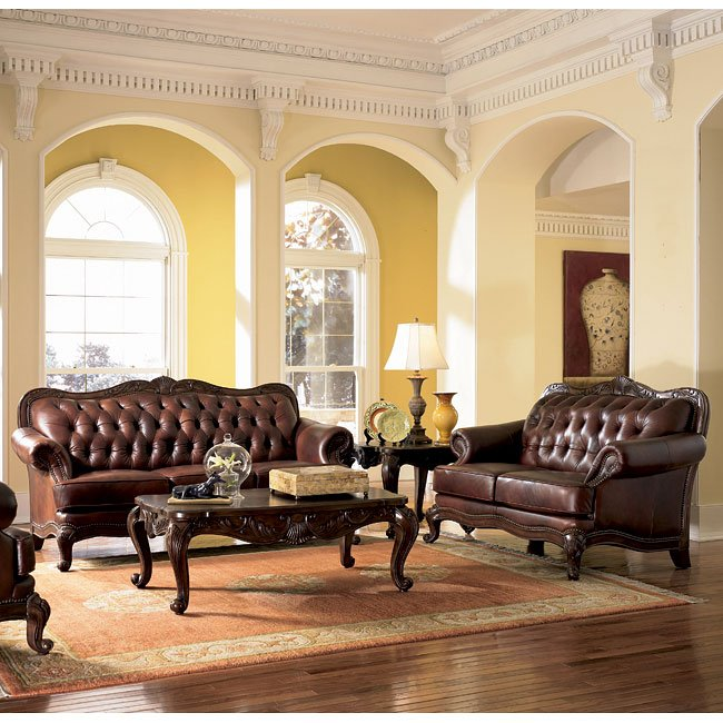 Victoria leather living room set coaster furniture for Living room c o maidstone