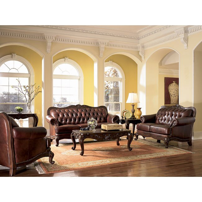 Victoria Leather Living Room Set by Coaster Furniture, 5 Review(s ...