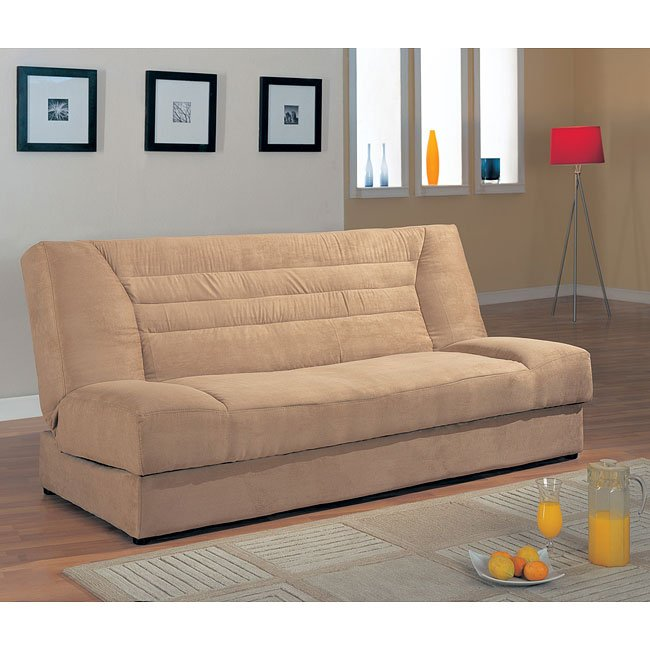 Tan Convertible Sofa Bed with Storage by Coaster Furniture ...