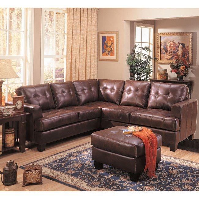samuel dark brown sectional living room set coaster