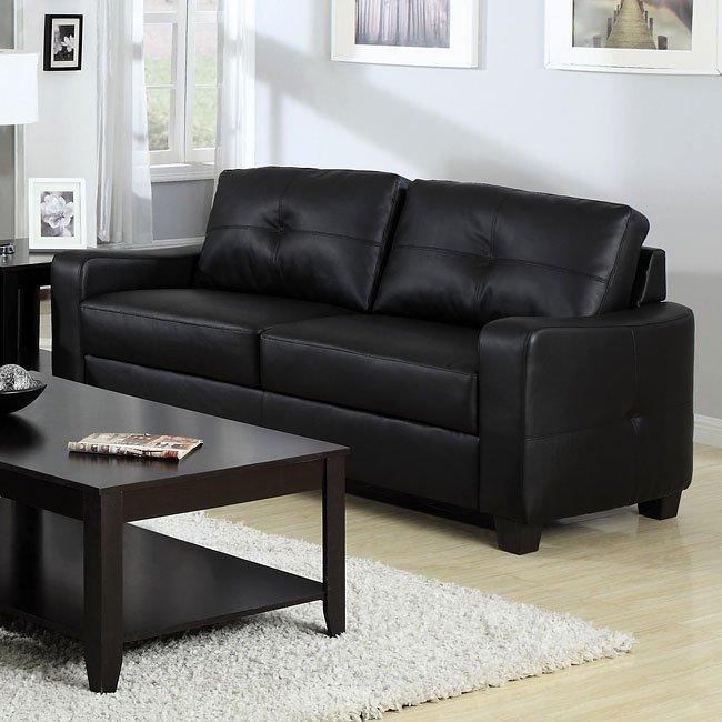 Living Room Furniture Sets Black: Jasmine Living Room Set (Black) By Coaster Furniture