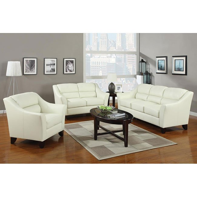 Ivory Living Room Furniture: Brooklyn Living Room Set (Ivory) By Coaster Furniture