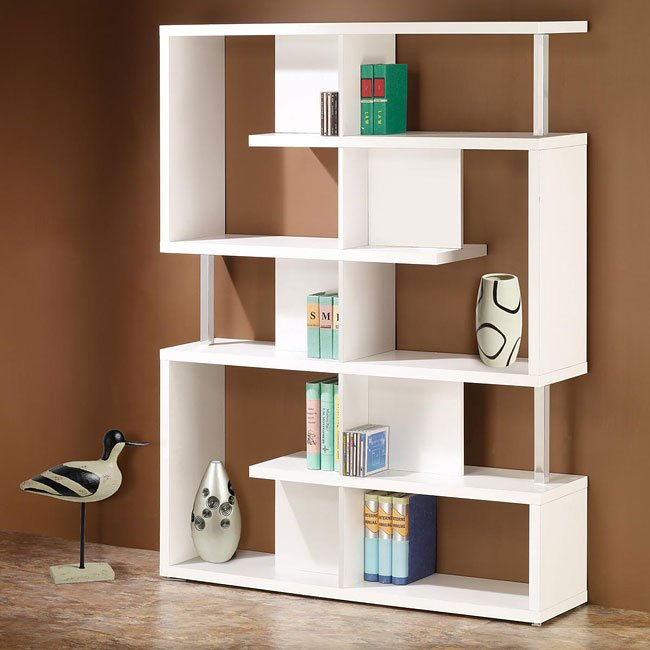 Modern White Bookcase Coaster Furniture | FurniturePick