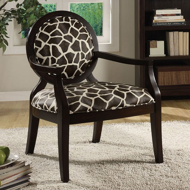 Animal Print Accent Chair (Giraffe)