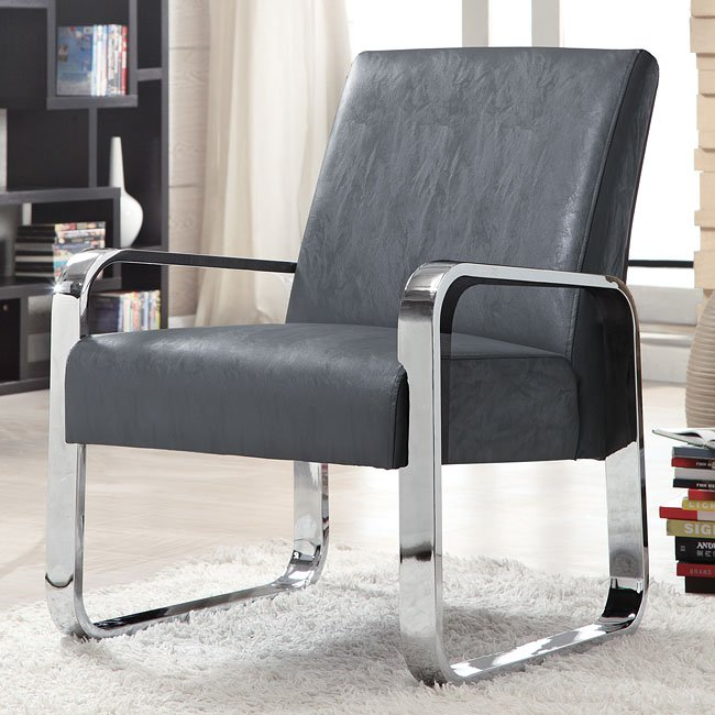 Ultra Modern Accent Chair (Gray) by Coaster Furniture ...