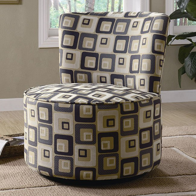 Round Swivel Accent Chair (Square) Coaster Furniture ...