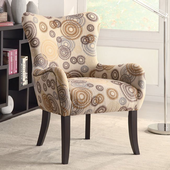 Global Furniture Accent Chair With Nailhead: Accent Chair W/ Nailhead Trimming Coaster Furniture