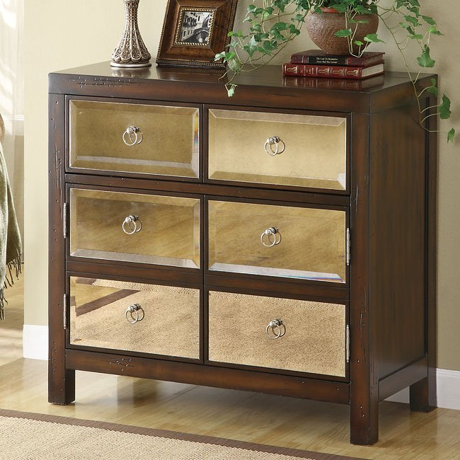Accent Cabinet W Mirror Drawer Fronts By Coaster