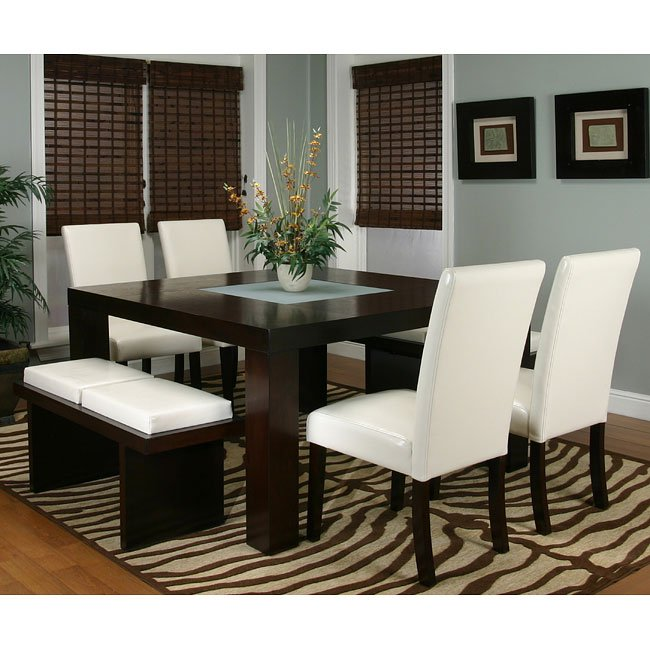 Exceptionnel Kemper Square Dining Room Set (Ivory)