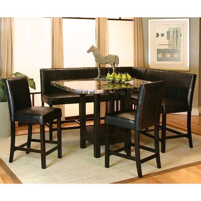 Superieur Chatham Counter Height Corner Dining Nook Set
