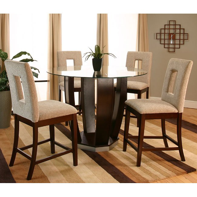 Emerson Counter Height Dinette With Latte Chairs By Cramco