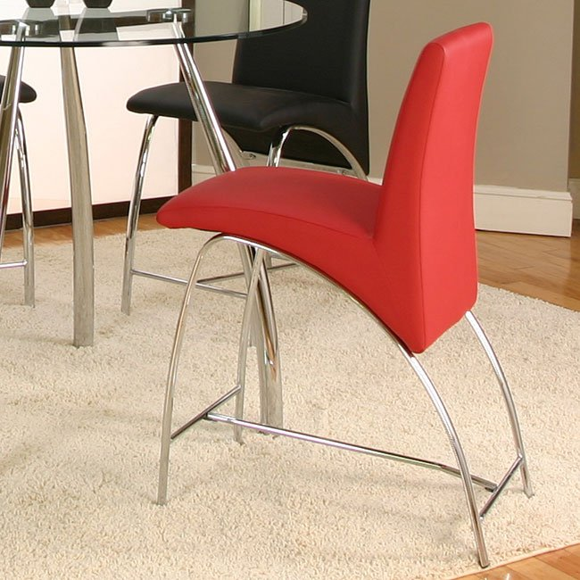 Mensa Red Counter Height Chair (Set Of 4) By Cramco