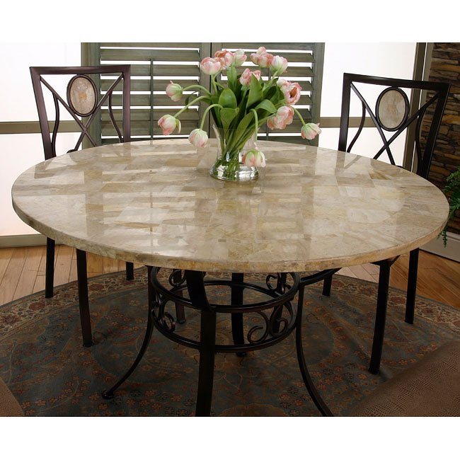 Nadia Round Marble Top Dining Table