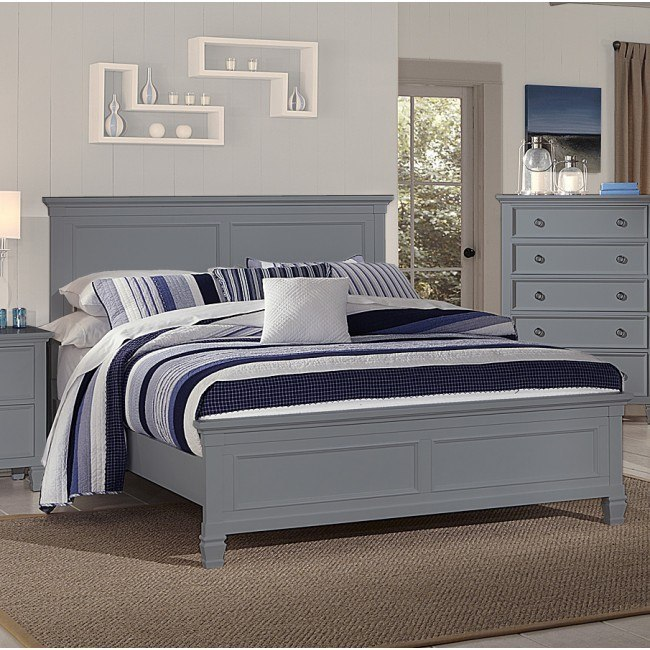 Tamarack Panel Bed (Gray)