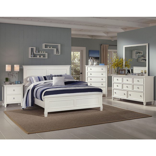 Tamarack Panel Bedroom Set (White)