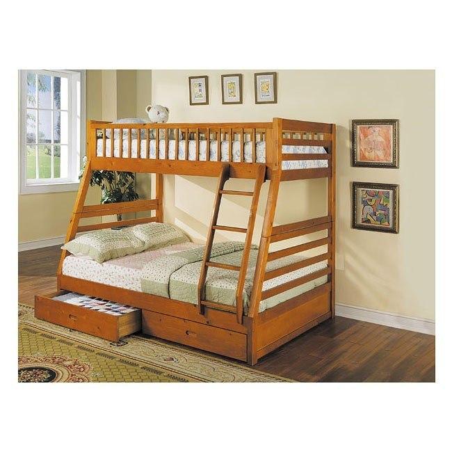 Jason Oak Bunk Bed with Storage