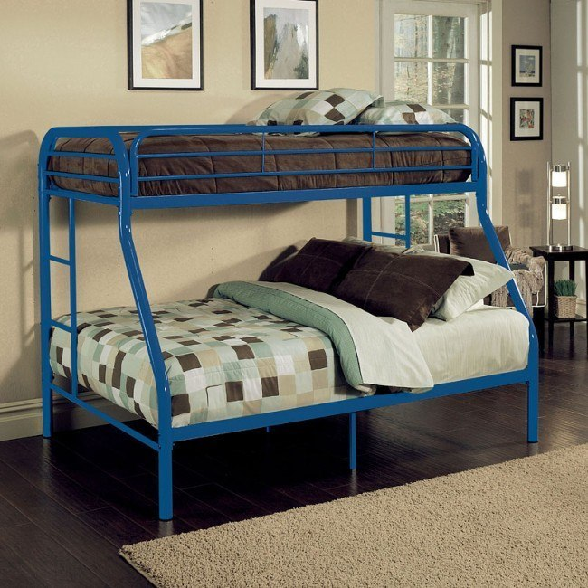 Tritan Twin XL over Queen Bunk Bed (Blue)