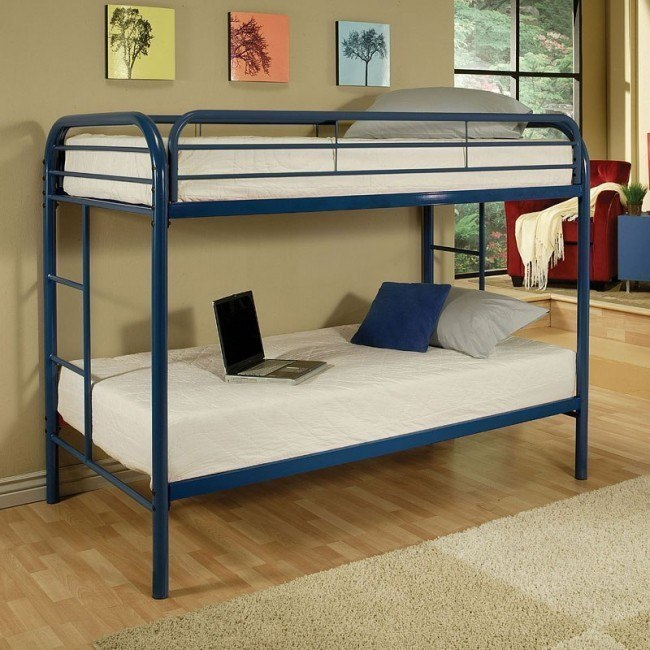Thomas Twin Bunk Bed (Blue)